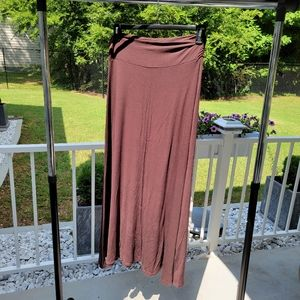 Lightweight Brown Maxi Skirt Made By Johnny